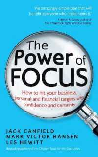 Link to an enlarged image of Power of Focus : How to Hit Your Business, Personal and Financial Targets with Confidence and Cer -- Paperback / softback
