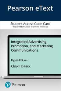 Link to an enlarged image of Integrated Advertising, Promotion, and Marketing Communications Pearson Etext Access Card (8th Pass Code)