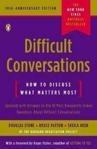 Link to an enlarged image of Difficult Conversations : How to Discuss What Matters Most (10th Anniversary Updated)