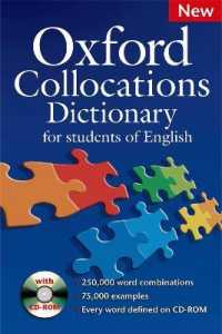 Link to an enlarged image of Oxford Collocations Dictionary New Edition Dictionary and Cd-rom Pack (2nd)