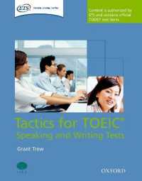 Link to an enlarged image of Tactics for Toeic Speaking and Writing Tests Pack (Paperback + Spoken Word Compact Disc)