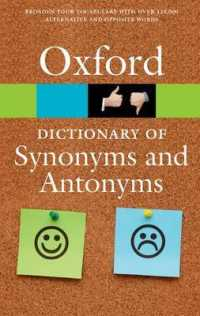 Link to an enlarged image of The Oxford Dictionary of Synonyms and Antonyms (Oxford Quick Reference) (3rd)