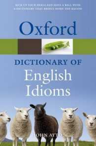 Link to an enlarged image of Oxford Dictionary of English Idioms (Oxford Quick Reference) (3rd)