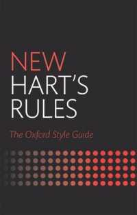 Link to an enlarged image of New Hart's Rules : The Oxford Style Guide (2nd)