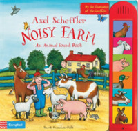 Link to an enlarged image of Axel Scheffler's Noisy Farm (INA BRDBK)