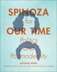 Link to an enlarged image of Spinoza for Our Time : Politics and Postmodernity (Insurrections: Critical Studies in Religion, Politics, and Culture)