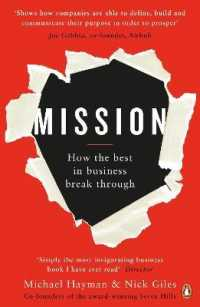 Link to an enlarged image of Mission : How the Best in Business Break through