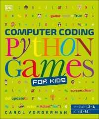 Link to an enlarged image of Computer Coding Python Games for Kids -- Hardback