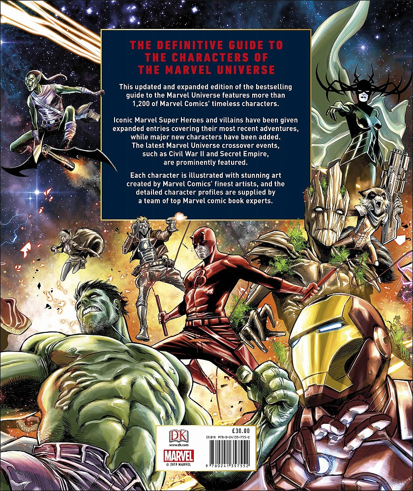 Link to an enlarged 2nd image of Marvel Encyclopedia New Edition -- Hardback