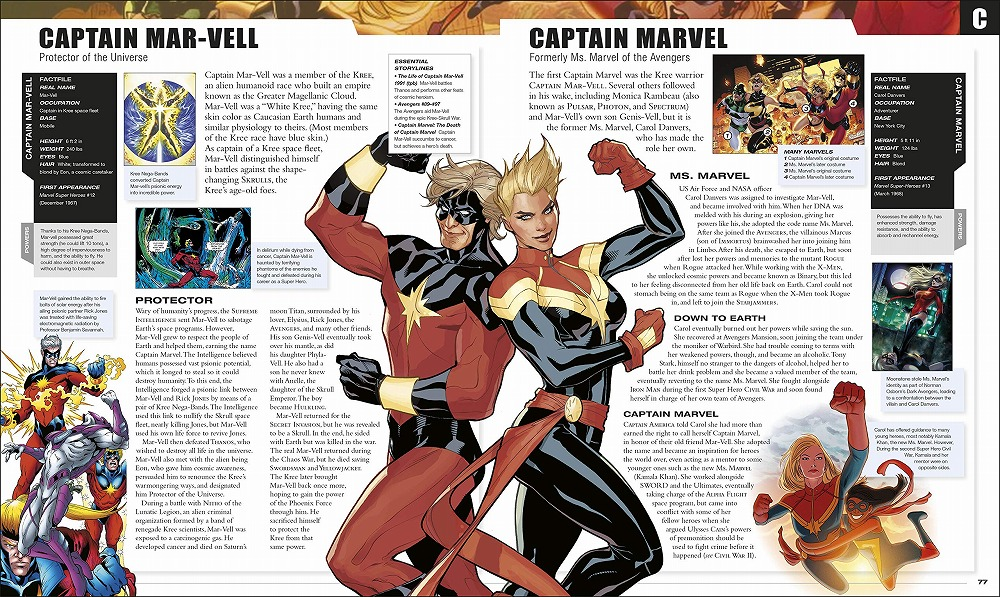 Link to an enlarged 3rd image of Marvel Encyclopedia New Edition -- Hardback