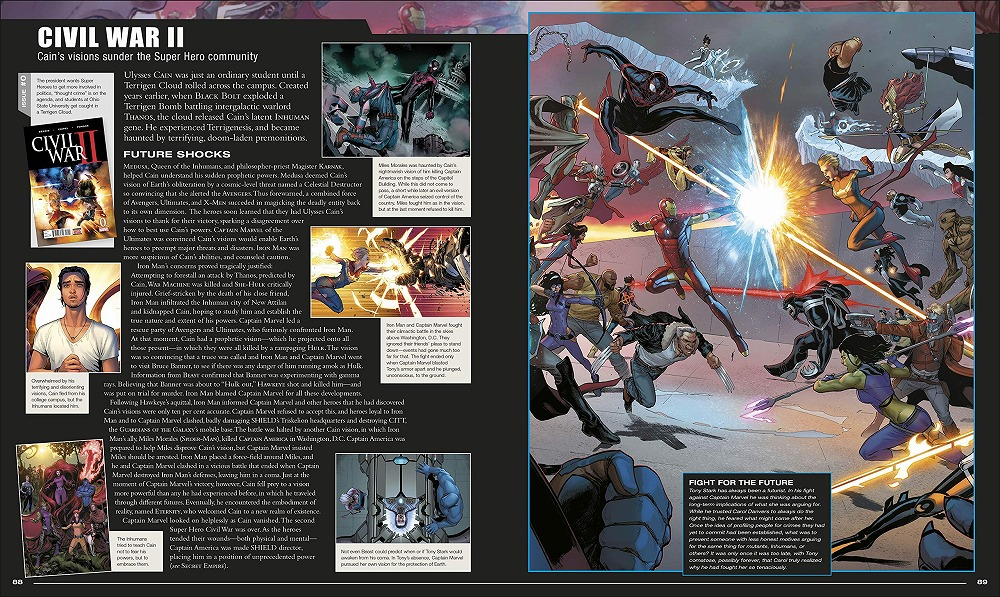 Link to an enlarged 4th image of Marvel Encyclopedia New Edition -- Hardback