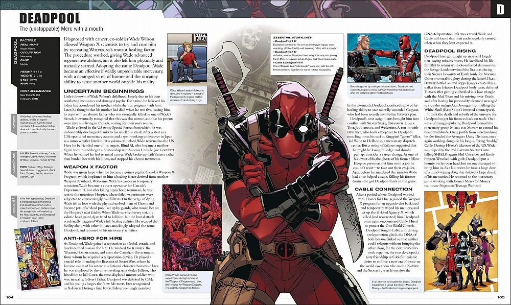Link to an enlarged 5th image of Marvel Encyclopedia New Edition -- Hardback