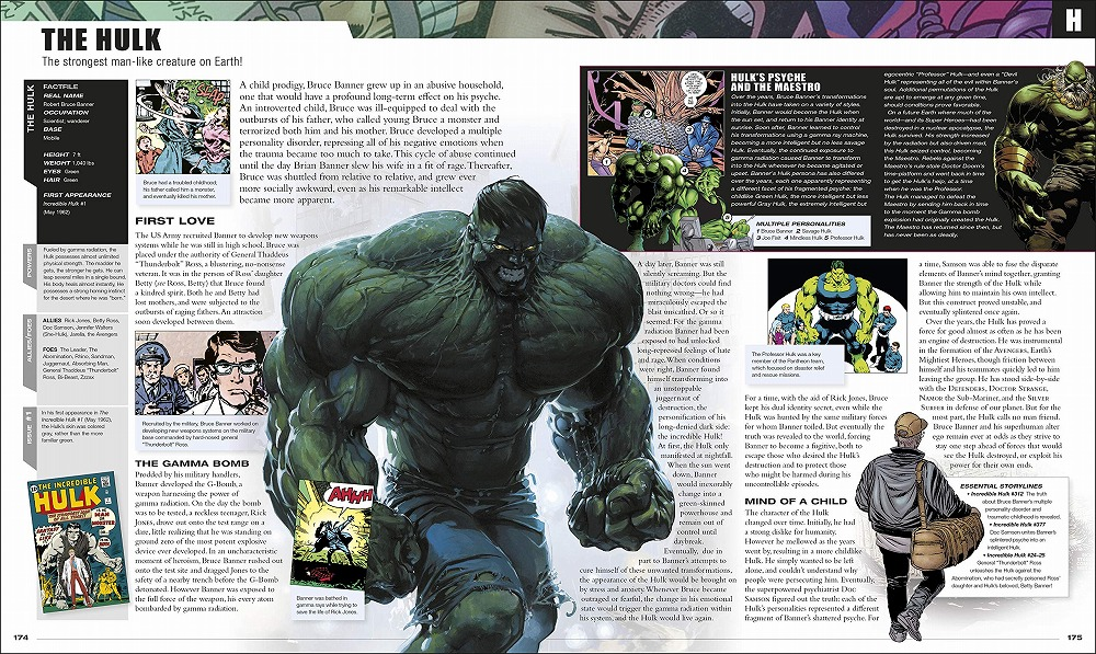 Link to an enlarged 6th image of Marvel Encyclopedia New Edition -- Hardback
