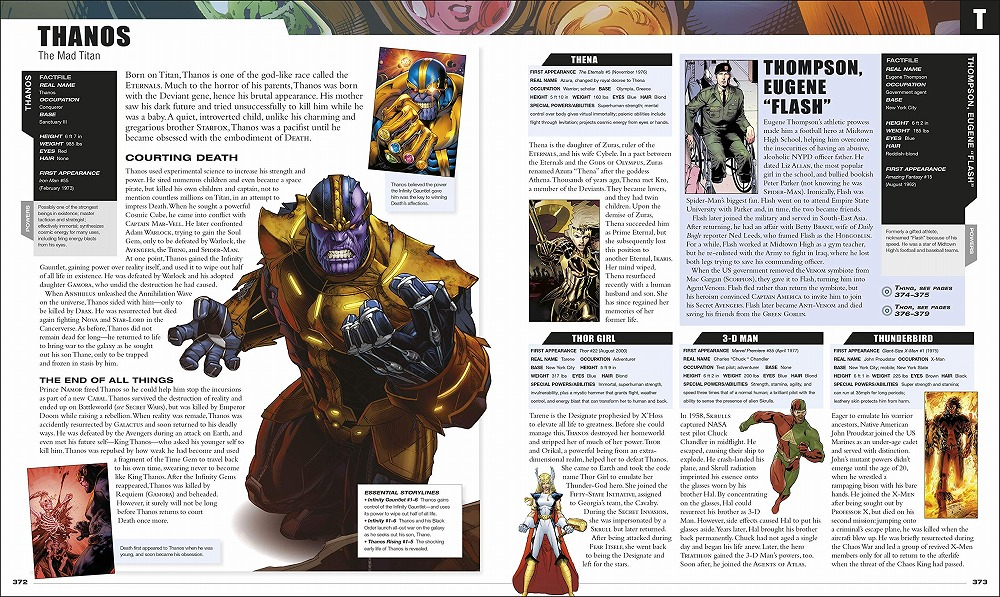 Link to an enlarged 8th image of Marvel Encyclopedia New Edition -- Hardback