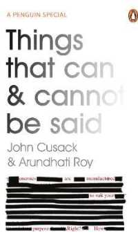 Link to an enlarged image of Things That Can and Cannot Be Said -- Paperback / softback