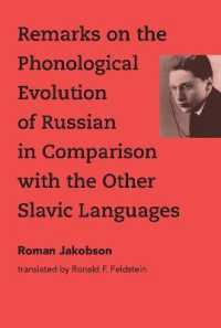 Link to an enlarged image of Remarks on the Phonological Evolution of Russian in Comparison with the Other Slavic Languages