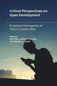 Link to an enlarged image of Critical Perspectives on Open Development : Empirical Interrogation of Theory Construction (International Development Research Centre)