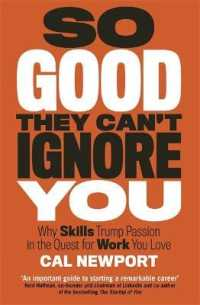 Link to an enlarged image of So Good They Can't Ignore You -- Paperback / softback