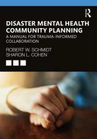 Disaster Mental Health Community Planning 9780367247263