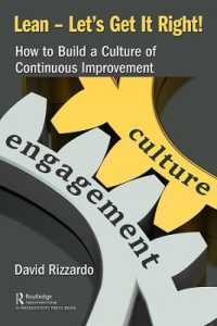Link to an enlarged image of Lean Lets Get It Right! : How to Build a Culture of Continuous Improvement