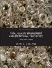 Link to an enlarged image of Total Quality Management and Operational Excellence : Text with Cases (4th)