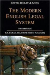 Link to an enlarged image of Smith, Bailey & Gunn on The Modern English Legal System (5TH)