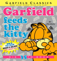 Link to an enlarged image of Garfield feeds the kitty (Garfield Classics)