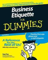 Link to an enlarged image of Business Etiquette for Dummies (For Dummies (Business & Personal Finance)) (2nd)