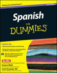Link to an enlarged image of Spanish for Dummies (For Dummies (Language & Literature)) (2nd Paperback + Spoken Word Compact Disc)