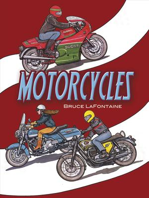Link to an enlarged image of Motorcycles Coloring Book (Dover History Coloring Book) (CLR CSM)