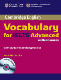 Link to an enlarged image of Cambridge Vocabulary for Ielts Advanced Band 6.5+ with Answers and Audio Cd. (Paperback + Spoken Word Compact Disc)