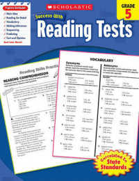 Link to an enlarged image of Scholastic Success with Reading Tests, Grade 5