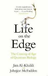 Link to an enlarged image of Life on the Edge : The Coming of Age of Quantum Biology -- Paperback / softback