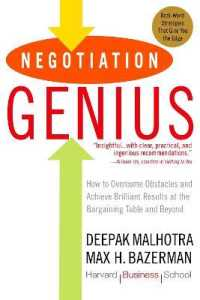 Link to an enlarged image of Negotiation Genius : How to Overcome Obstacles and Achieve Brilliant Results at the Bargaining Table and Beyond (Reprint)