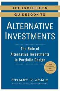 Link to an enlarged image of The Investor's Guidebook to Alternative Investments : The Role of Alternative Investments in Portfolio Design