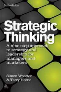 Link to an enlarged image of Strategic Thinking : A Nine Step Approach to Strategy and Leadership for Managers and Marketers (3rd)