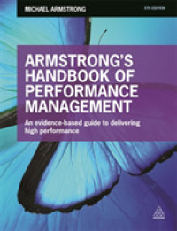 Link to an enlarged image of Armstrong's Handbook of Performance Management : An evidence-based guide to delivering high performance (5th)