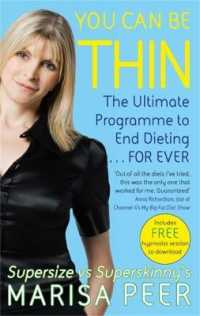 Link to an enlarged image of You Can Be Thin : The Ultimate Hypnosis Programme to End Dieting...Forever