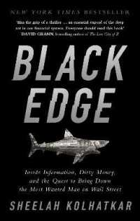 Link to an enlarged image of Black Edge : Inside Information, Dirty Money, and the Quest to Bring Down the Most Wanted Man -- Paperback / softback