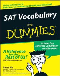 Link to an enlarged image of Sat Vocabulary for Dummies (For Dummies (Career/education))