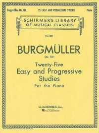 Link to an enlarged image of Twenty-Five Easy and Progressive Studies for the Piano, Op. 100 : Complete