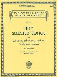 Link to an enlarged image of 50 Selected Songs : By Schubert, Schumann, Brahms, Wolf and Strauss