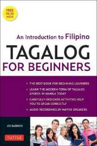 Link to an enlarged image of Tagalog for Beginners : An Introduction to Filipino, the National Language of the Philippines (CSM Paperback + DV)