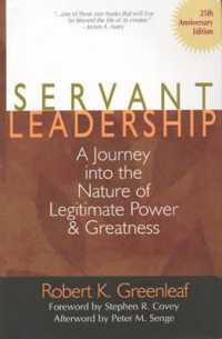Link to an enlarged image of Servant Leadership : A Journey into the Nature of Legitimate Power and Greatness (25th Anniversary)