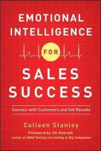 Link to an enlarged image of Emotional Intelligence for Sales Success : Connect with Customers and Get Results