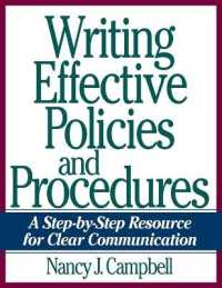 Link to an enlarged image of Writing Effective Policies and Procedures : A Step-by-step Resource for Clear Communication