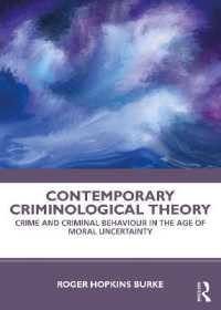 Contemporary Criminological Theory 9780815374480