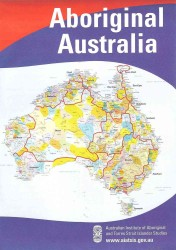 Link to an enlarged image of Aboriginal Australia Map : Small, Flat (Wall PSTR)