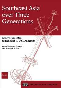 Link to an enlarged image of Southeast Asia over Three Generations : Essays Presented to Benedict R. O. G. Anderson
