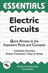 Link to an enlarged image of Electric Circuits : Quick Access to the Important Facts and Concepts (Essentials) (Reissue)